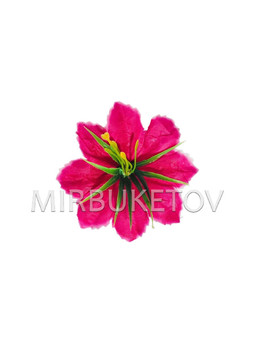 Пресцветок Лилия резная с тычинкой куст, малиновый, 90 мм, A20709