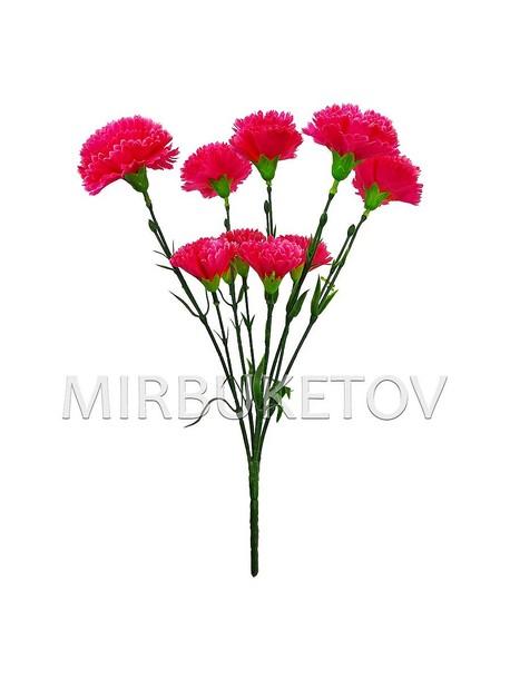 Искусственные цветы Букет Гвоздики, 10 голов, 410 мм