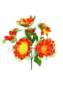 Искусственные цветы Букет Крокуса с розеткой, 7 голов, 380 мм