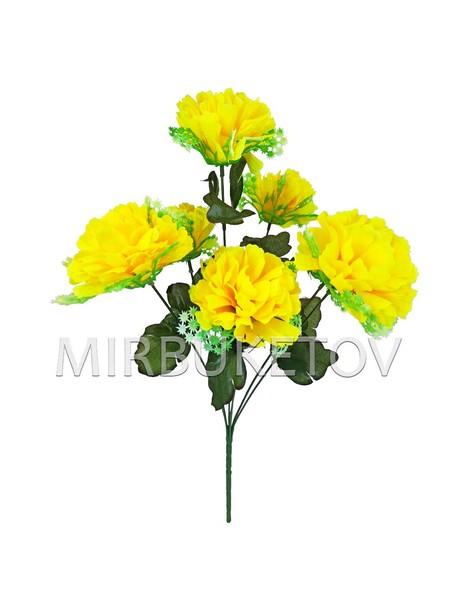 Искусственные цветы Букет Георгины с розеткой, 7 голов, 450 мм