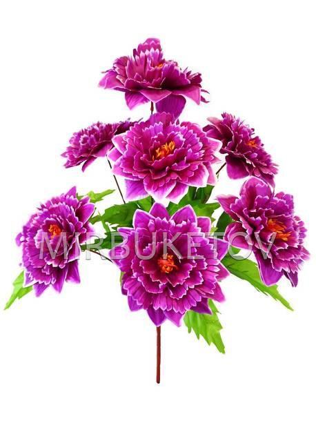 Искусственные цветы Букет Хризантемы, 7 голов, 570 мм