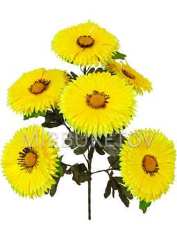 Искусственные цветы Букет Герберы, 6 голов, 570 мм