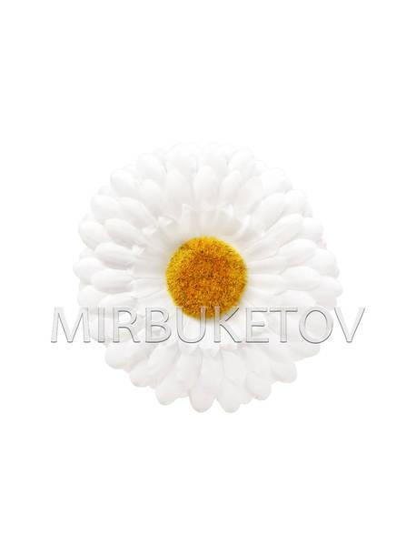 Искусственные цветы Ромашка белая, шелк, 110 мм