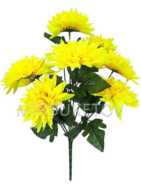 Искусственные цветы Букет Хризантемы, 9 голов, 600 мм