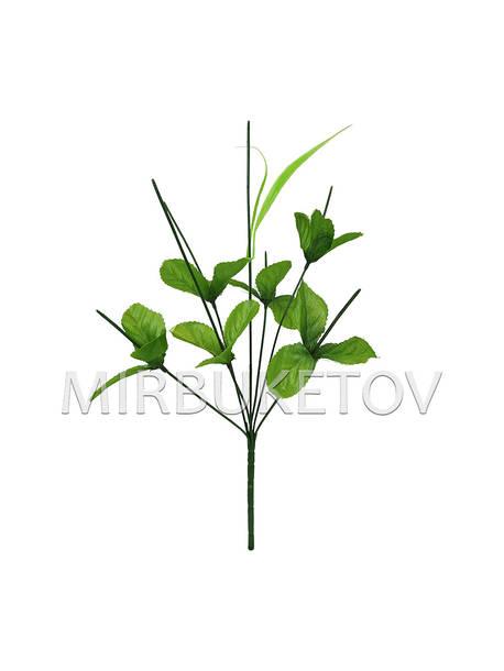 Букетная ножка на 7 голов с листьями и добавкой, 390 мм