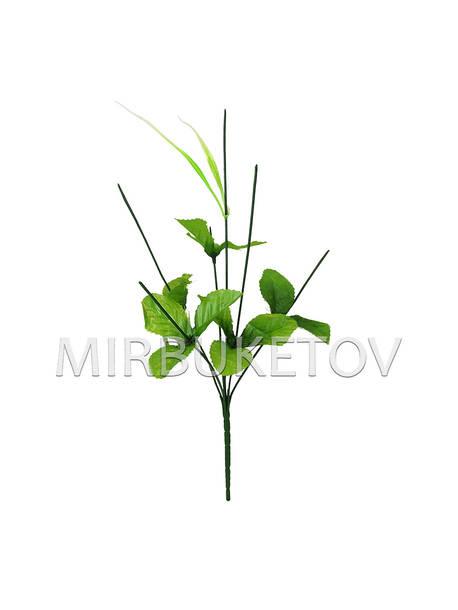 Букетная ножка на 6 голов с листьями и добавкой, 390 мм