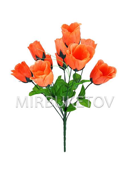 """Искусственные цветы Букет Розы """"Николаев"""", 10 голов, 460 мм"""