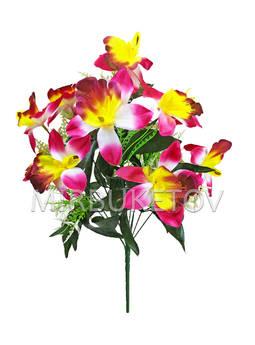 Искусственный букет Орхидеи, 12 голов, 550 мм, Md206