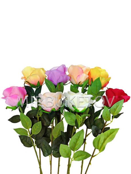 Искусственные цветы Премиум роза на ножке, 620 мм