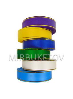 Лента для оформления 2 золотые полосы, 30 мм, 50 ярд, S4-30