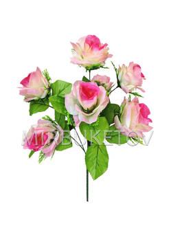 Искусственный букет Розы с розеткой, 7 голов, 450 мм, Md891