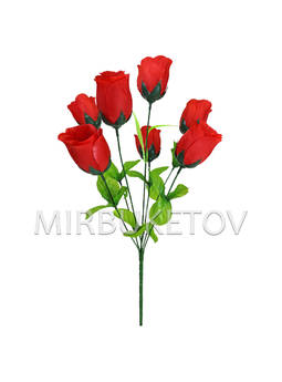 """Искусственные цветы Букет Розы """"Львов"""", 7 голов, 460 мм"""