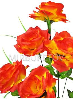 Букет искусственной Розы, 9 голов, 550 мм, Md727