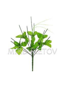 Букетная ножка на 10 голов с листьями и добавкой, 390 мм, Nd468