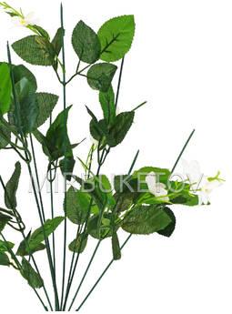 Букетная ножка на 10 голов с листьями и добавкой, 460 мм, Nd627
