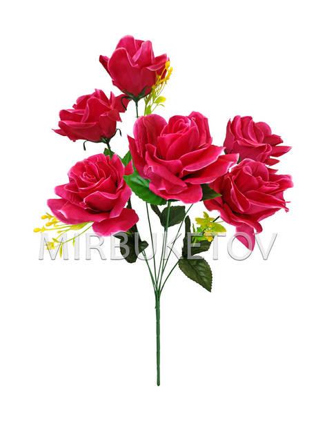 Букет искусственной Розы, 7 голов, 560 мм