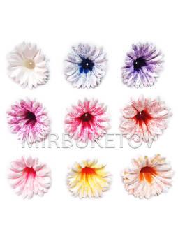 Искусственный пресс цветок Колокольчик, атлас, 100 мм, E16