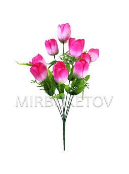 Искусственные цветы Букет Тюльпанов, 9 голов, 490 мм