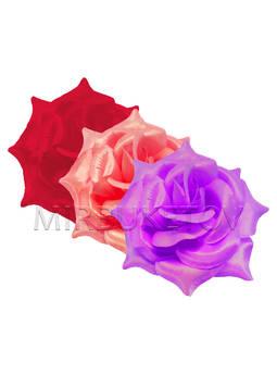 Искусственные цветы Роза открытая, атлас, микс, 120 мм
