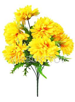 Искусственные цветы Букет Георгины, 7 голов, 610 мм