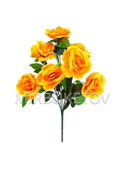 Искусственные цветы Букет Розы, 7 голов, 430 мм