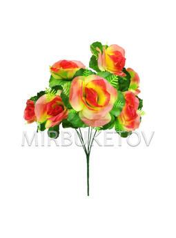 Искусственные цветы Букет Розы, 7 голов, 400 мм