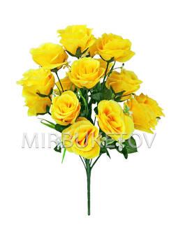 Искусственные цветы Букет Розы, 18 голов, 540 мм