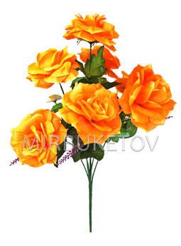 Искусственные цветы Букет Роза гофре, 7 голов, 650 мм