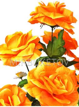 Букет искусственная Роза гофре, 7 голов, 650 мм