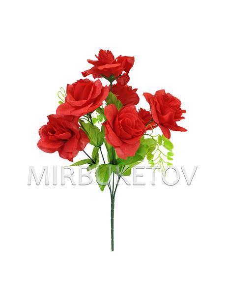 Искусственные цветы Букет Розы, 7 голов, 410 мм