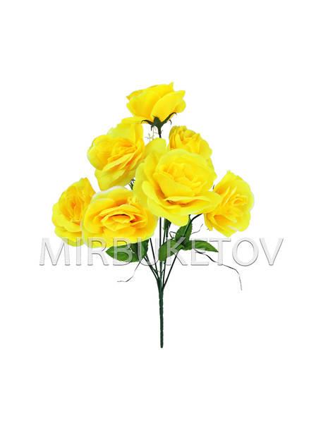 Искусственные цветы Букет Розы, 7 голов, 370 мм