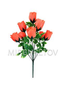 """Букет искусственной розы """"Луцк"""", 9 голов, 490 мм, M712"""