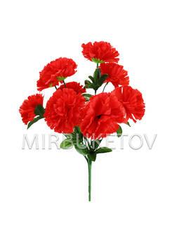 Искусственные цветы Букет Гвоздики, 9 голов, 420 мм
