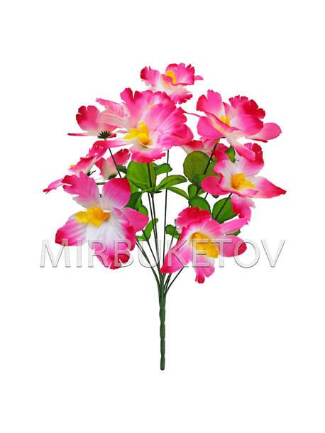 Искусственные цветы Букет Орхидеи, 12 голов, 450 мм