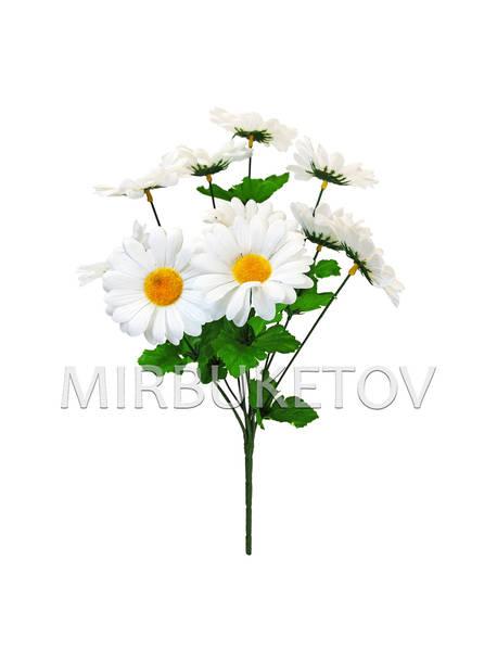 Искусственные цветы Букет белой Ромашки, 9 голов, 420 мм