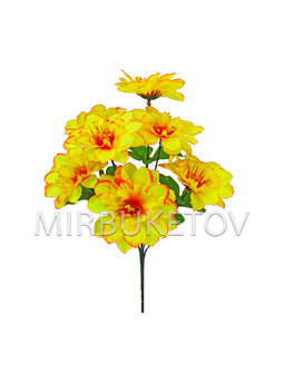 Искусственные цветы Букет Клематиса, 7 голов, 390 мм