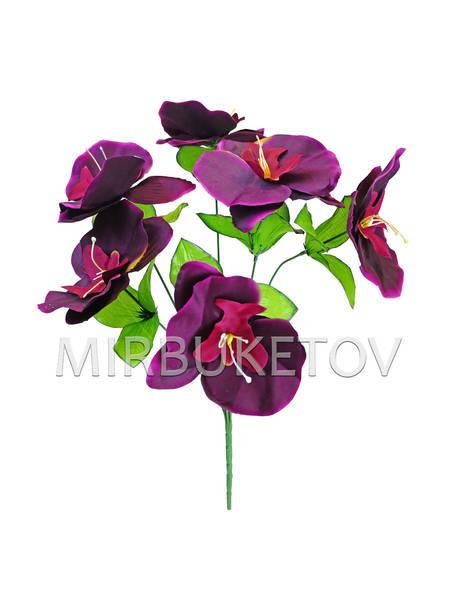 Искусственные цветы Букет Орхидеи, 6 голов, 420 мм