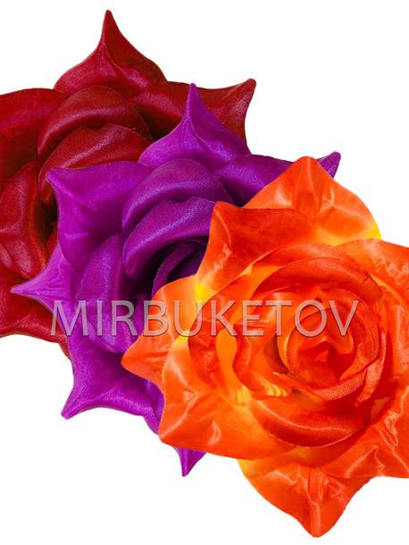 Искусственные цветы Роза Великан, атлас, микс, 210 мм