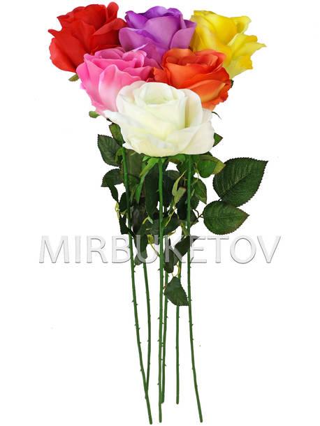 Искусственные цветы Премиум Роза на ножке, 770 мм