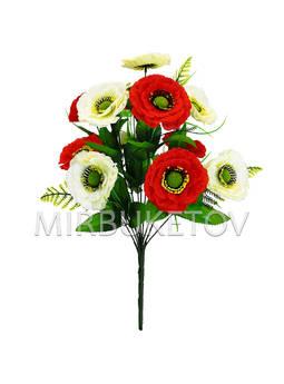 Искусственные цветы Букет Мака, 12 голов, 490 мм