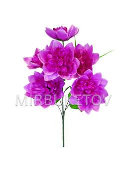Искусственные цветы Букет Клематиса, 7 голов, 460 мм