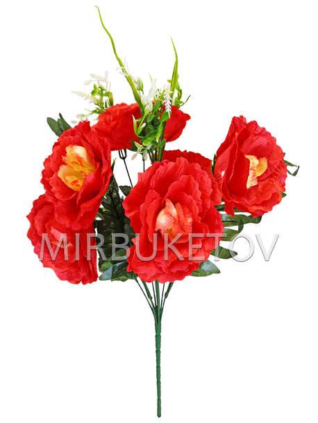 Искусственные цветы Букет Пиона, 7 голов, 490 мм