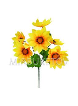 Искусственные цветы Букет Лотоса, 7 голов, 410 мм