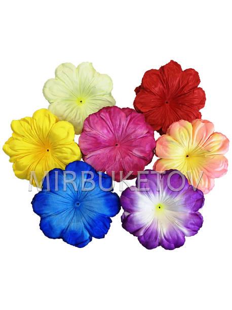 Искусственный пресс-цветок Мальва без тычинки, 140 мм