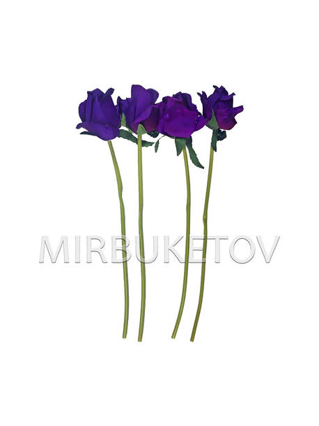 Искусственная ветка фиолетовой Розы, 360 мм