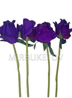 Искусственная ветка Розы, фиолетовая, 360 мм