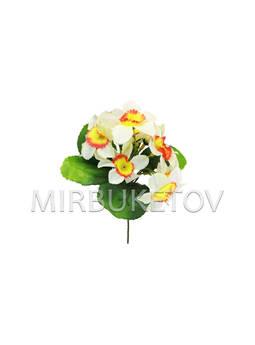Искусственные цветы Бордюрный букет Нарциссов, 7 голов, 220 мм