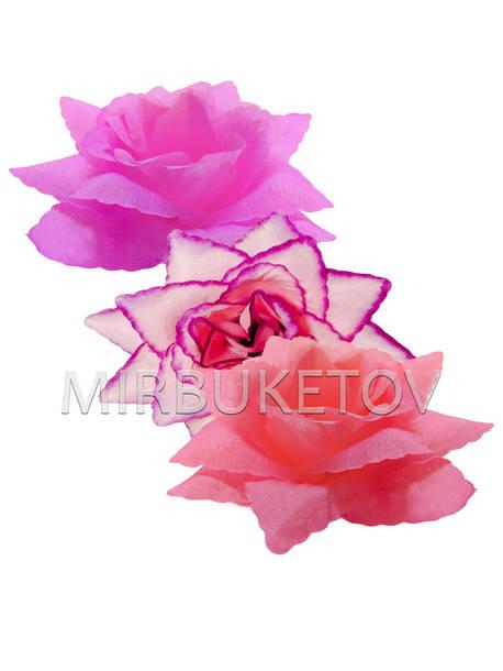 Роза шелковая открытая, 110 мм, микс