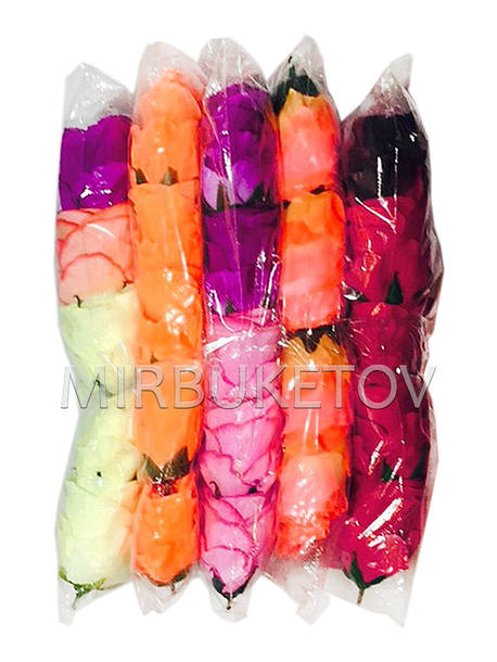 Искусственные цветы Роза бутон, микс, 90 мм, Распродажа