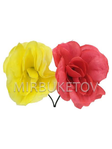 Искусственные цветы Роза открытая, шелк, 90 мм, РАСПРОДАЖА